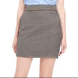 Tommy Hilfiger Houndstooth Mini Skirt